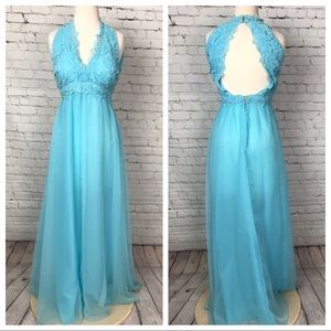 Vintage 1960's lace and organza gown size 6